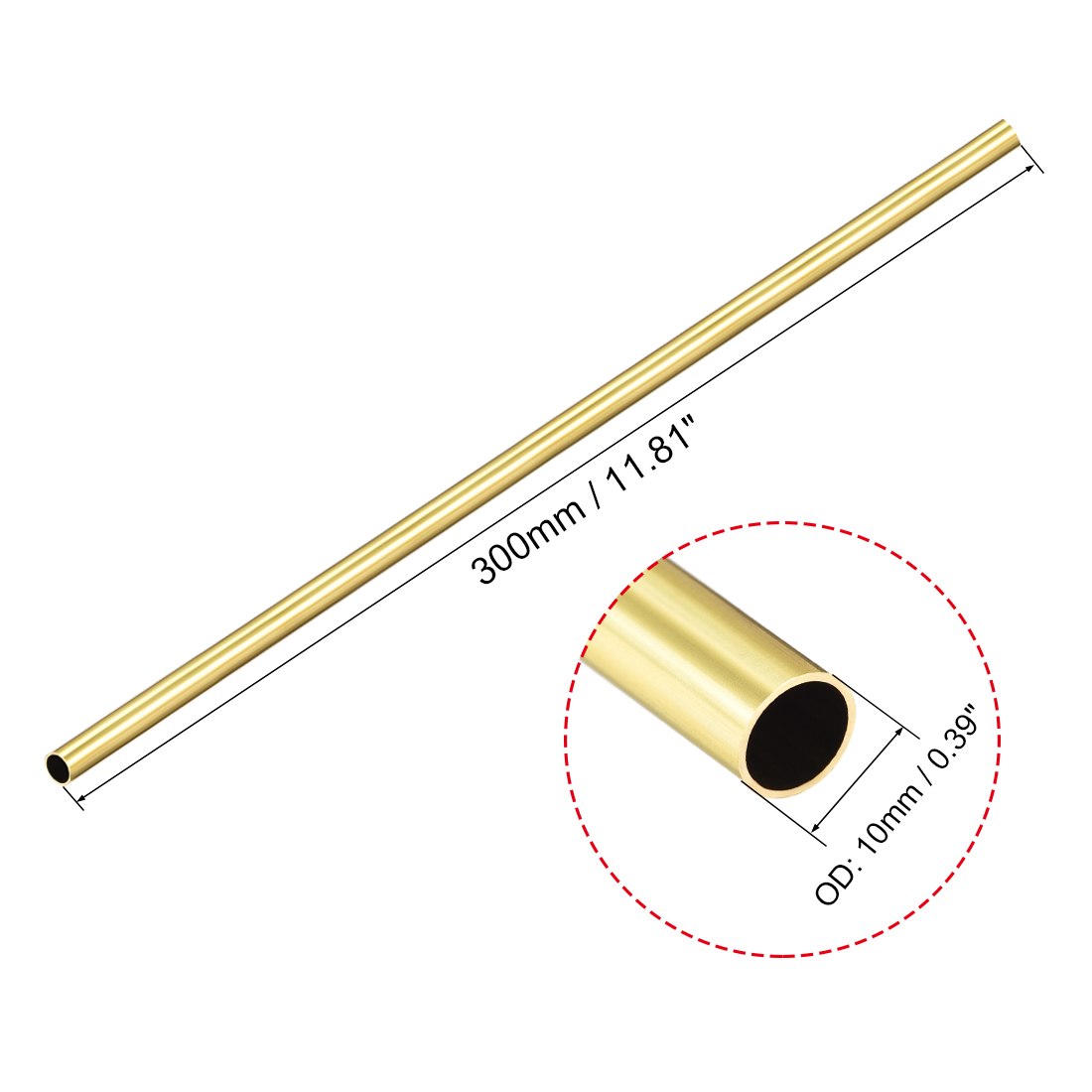 Brass Mini Channel Section 300mm Long 4mm x 4mm x 0.5mm