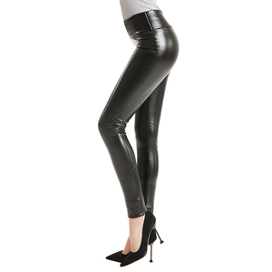 Image 5 - 2020 Hot Winter Leggings Thickening Black Leather Leggings Skinny Pants Warm Womens Trousers Boots Pants For Women Spandex 10%