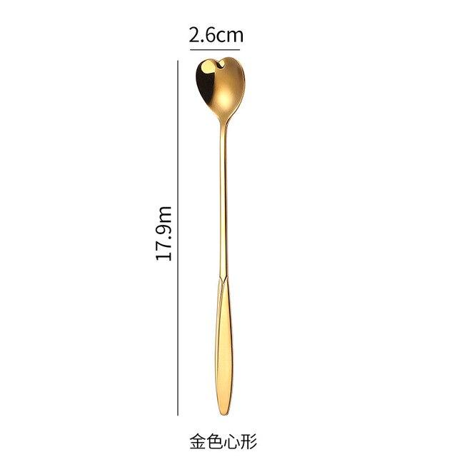 ложка из нержавеющей стали с длинной ручкой ложка со льдом кофейные фотография