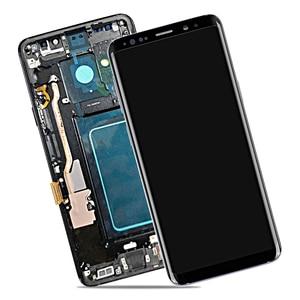 Image 2 - AMOLED لسامسونج غالاكسي S9 plus LCD مجموعة المحولات الرقمية لشاشة تعمل بلمس مع الإطار S9 + S9 LCD G960 G965 استبدال