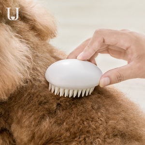 Image 5 - New Youpin Jordan&Judy Pet Silicone Combs Hair Removal Brush Smooth Surface Easy Cleaning Pet Massage Combs
