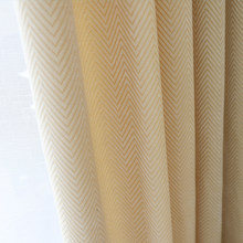 Simples e moderno luz amarelo bege chenille listra cortinas da janela do quarto sala de estar chão bay