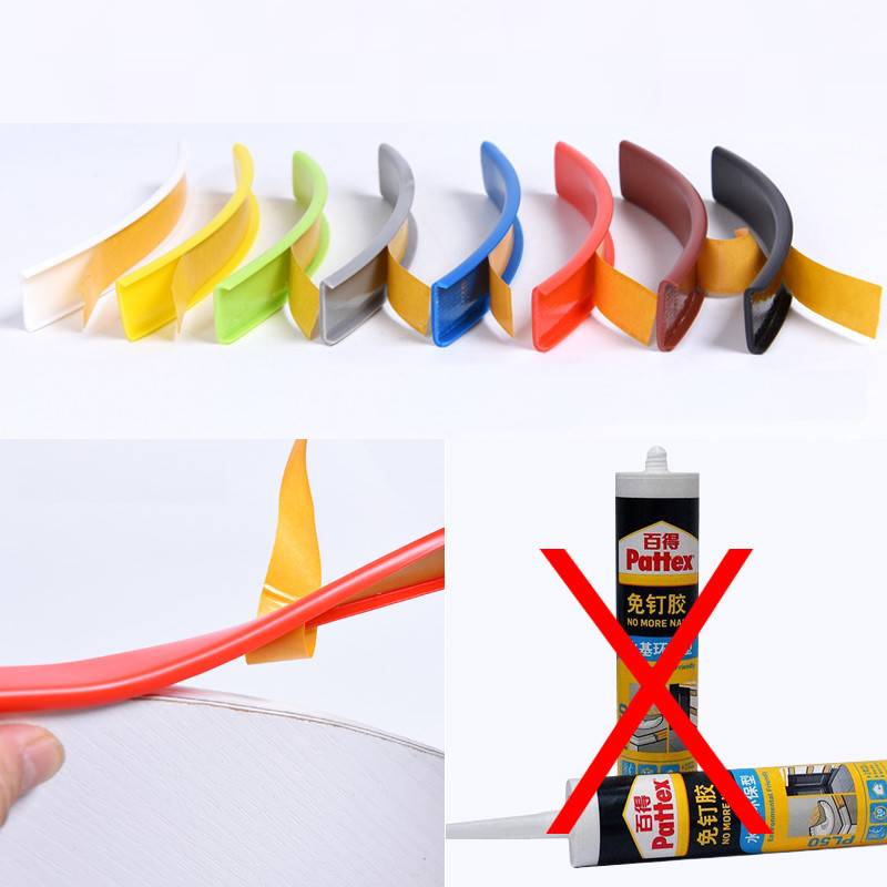 Adhesive U Edge Banding Edging Edgeband 9MM 10MM 12MM 16MM 18MM 22MM 28MM 32MM 40MM White Beige Gray Black Red Blue Green Yellow