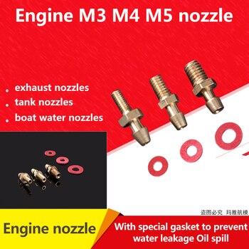Boquilla de aceite del tanque de combustible del tubo de aceite para RC GASOLINA Drone Aeromodel boquilla de aceite del motor M3 M4 M5 boquilla de agua del barco boquilla de latón