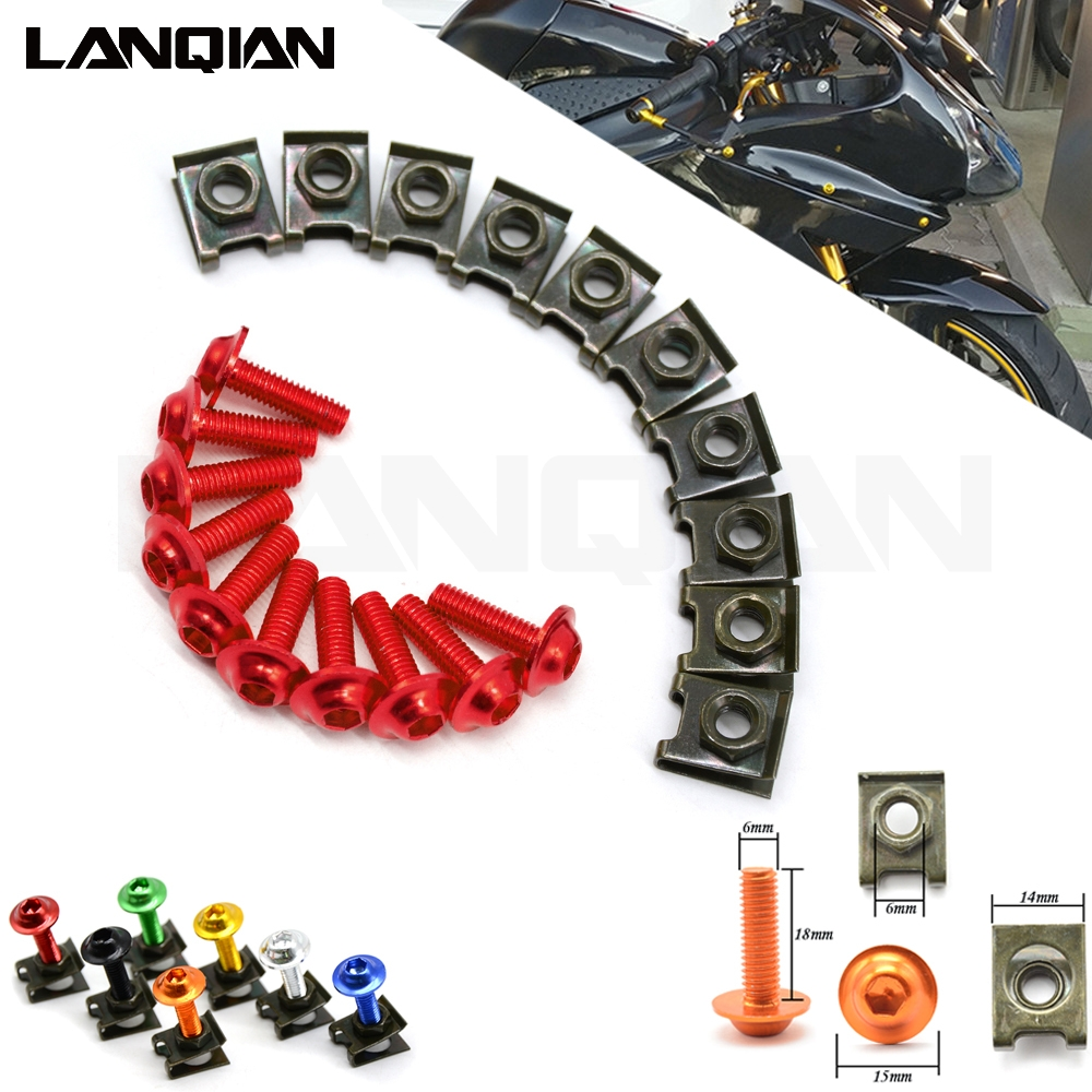 Motorcycle <font><b>Fairing</b></font> Screws Fastener Clips Body Spring Nut Bolts <font><b>Kit</b></font> For Honda MX125 CBR500R CB500 F X <font><b>CBR250RR</b></font> RC51 RVT1000 Parts image