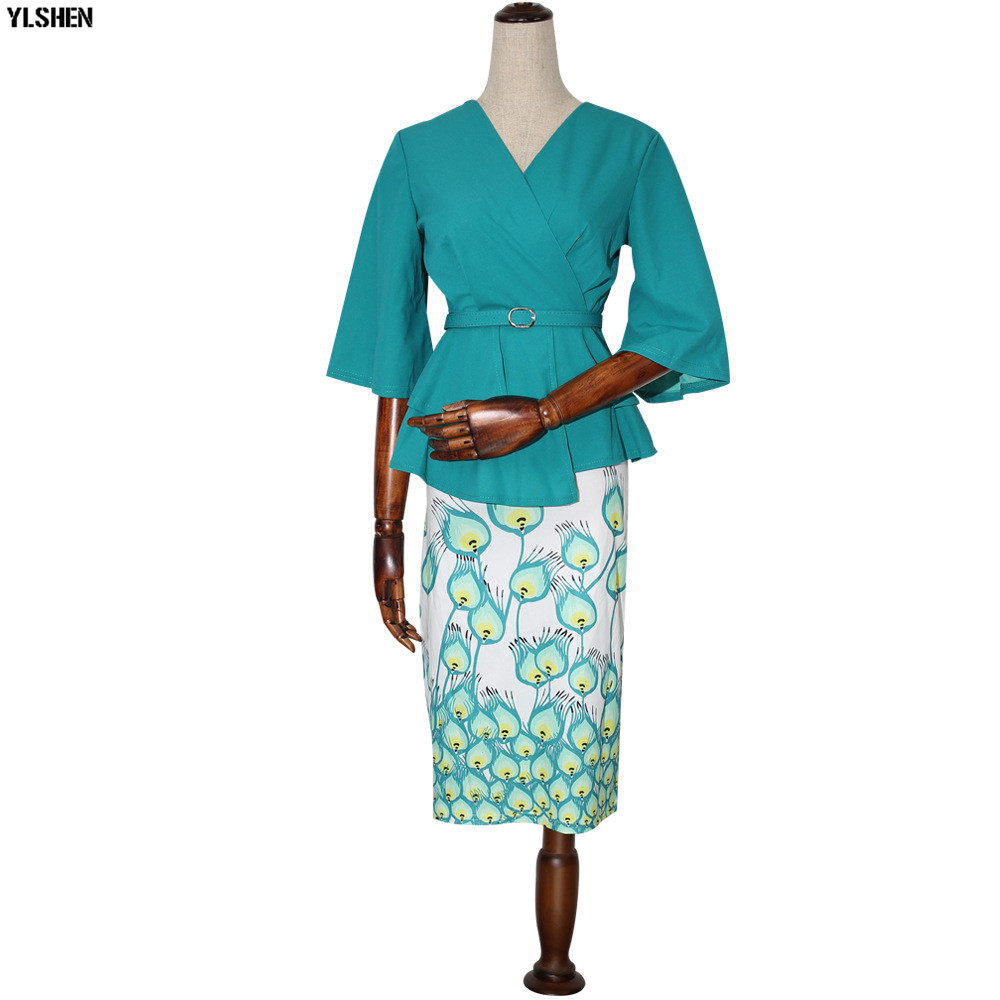 New Style African Dresses for Women Dashiki Print African Skirt Clothes Ankara Dress Bazin Rich Robe Boubou Africaine Femme 2019 04