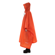 TOMSHOO Multifunctional Lightweight Raincoat with Hood Outdoor Camping Tent Mat Hiking Cycling Rain Cover Poncho Rain Coat