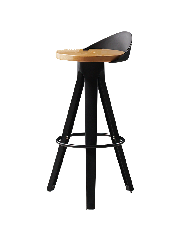Industrial Creative Fashion Bar Chair Modern Light Luxury Ins Bar Front Stool High Stool Nordic Style Bar Stool