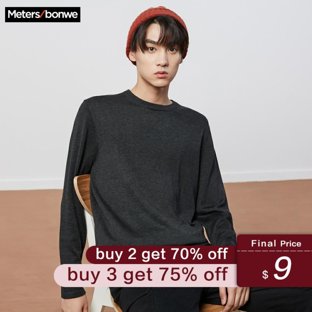 Metersbonwe New Brand Knitting Sweater Men Spring Fashion New Long Sleeve Retro Leisure Men Cotton Sweater High Quality Clothes