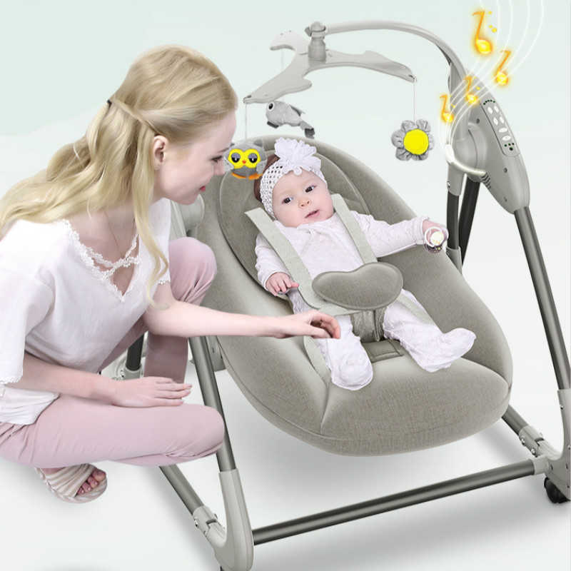 Electric Baby Rocking Chair Home Baby Recliner Cradle Bed With Baby To Sleep Parents Coax Baby Assistant Newborn Soothing Chair