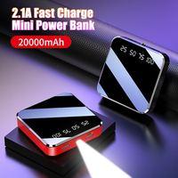 Mirror Screen 20000mAh Poverbank Mini Power Bank Digital Disply Poverbank External Battery Pack Powerbank For Smart Mobile Phone|Power Bank| |  -