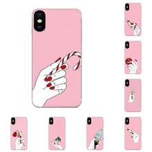 TPU Silicone Case Woman Girl Hand Wallpaper For Xiaomi Redmi Note 8 8A 8T 10 K30 5G For Motorola Moto G G2 G3 G4 G5 G6 G7 Plus(China)