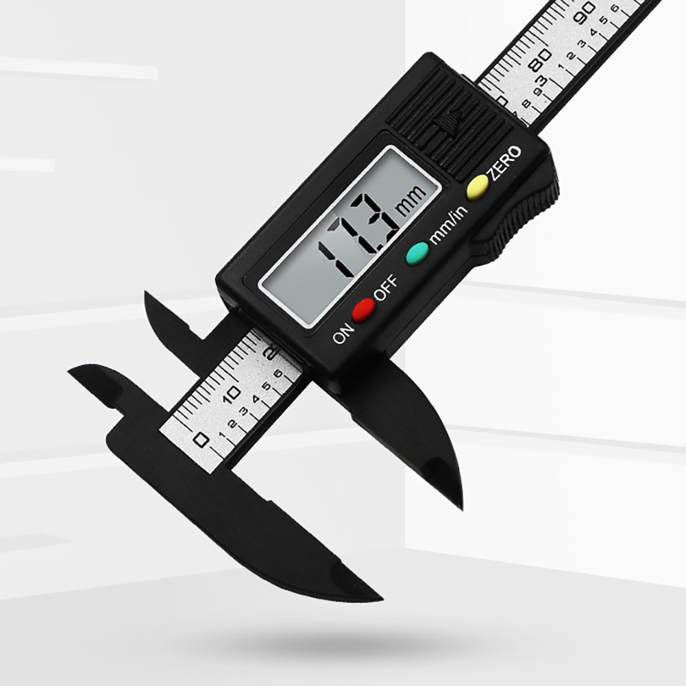 100mm 4 Inch 3 Keys LCD Electronic Digital Vernier Caliper Gauge Measure Micrometer Woodworking Professional  Measurement Tools