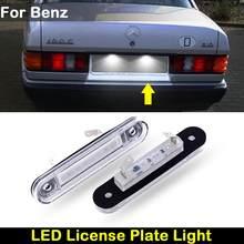 Pour Benz Classe E W124 190 W201 Classe C W202 Voiture Arrière blanc ÉCLAIRAGE DE PLAQUE D'IMMATRICULATION LED lampe à plaque d'immatriculation