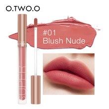 O.TWO.O 12 Colors Velvet Matte Liquid Lipstick Waterproof Long Lasting Women Nude Red Lip Tint Makeup Lip Beauty Cosmetic