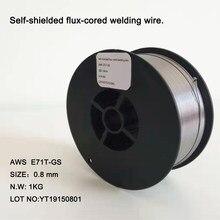 Fio de soldadura de núcleo de fluxo autoprotegido aws E71T-GS - 0.8mm e 1.0mm