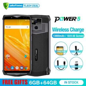 "Image 2 - Ulefone Potenza 5 13000mAh 4G Smartphone 6.0 ""FHD MTK6763 Octa Core Android 8.1 6GB + 64GB 21MP di carica Wireless Fingprint Viso ID"