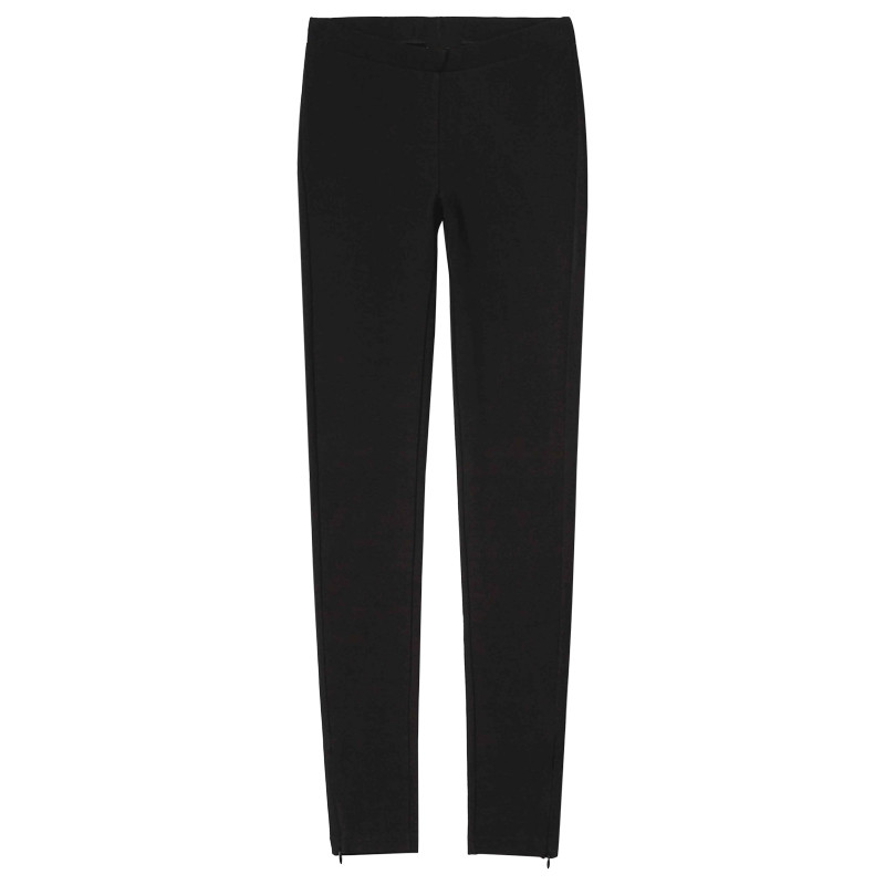 Women's Black Slim Legging Side Zip Leggings Pencil Pants 2019 New