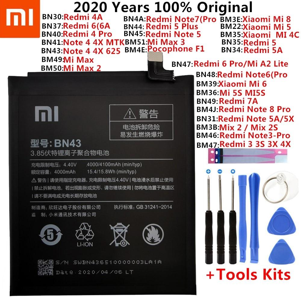Original XiaoMi Replacement Battery For Xiaomi Mi Redmi Note Mix 2 3 3S 3X 4 4X 4A 4C 5 5A 5S 5X M5 6 6A 7 8 Pro Plus batteries(China)