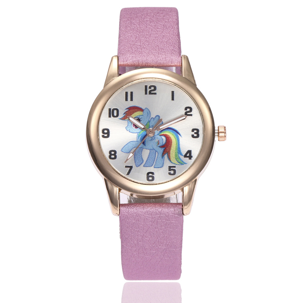 Children Watch Unicorn Pony Leather Strap Analog Dial Quartz Watches Kids Wrist Watches For Boys Girls Xmas Gifts Cartoon Watch