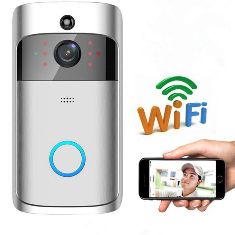 Dragonsview WiFi Doorbell 720P Smart IP Video Door Phone Camera Visual Intercom Wireless 166° IR Night Vision For Home Security