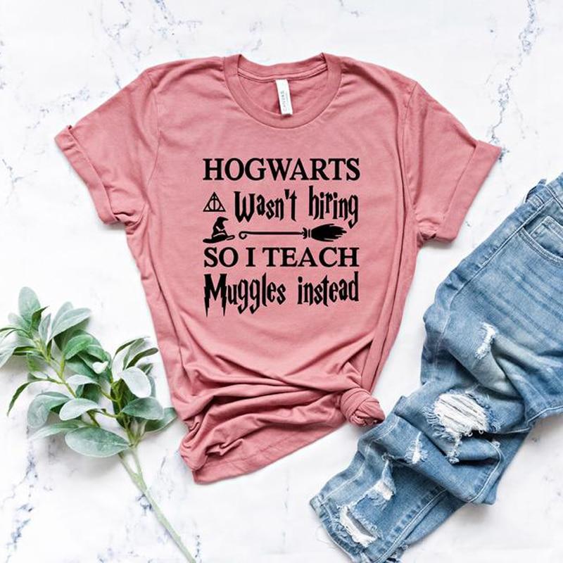 Хогвартс не Нанимая, так что я научить Muggles вместо футболка Забавный подарок для преподавателей изображением из мультфильма, футболки для д...
