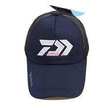2020 nova daiwa verão sun hat malha respirável sunshade respirável ajustável chapéu de sol grande e masculino ao ar livre pesca marca boné