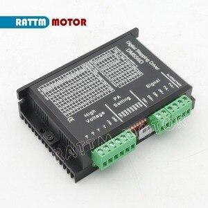 Image 4 - ЕС Бесплатный НДС 4 шт. DM556D 50VDC 5.6A 256 microстеп высокая производительность цифровой для ЧПУ маршрутизатор машина NEMA17/23 шаговый двигатель драйвер
