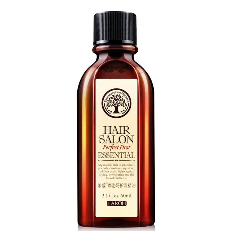 60ml Brand Multi-functional Hair & Scalp Treatments Hair Care Moroccan Pure Argan Oil Hair Essential Oil For Dry Hair Types