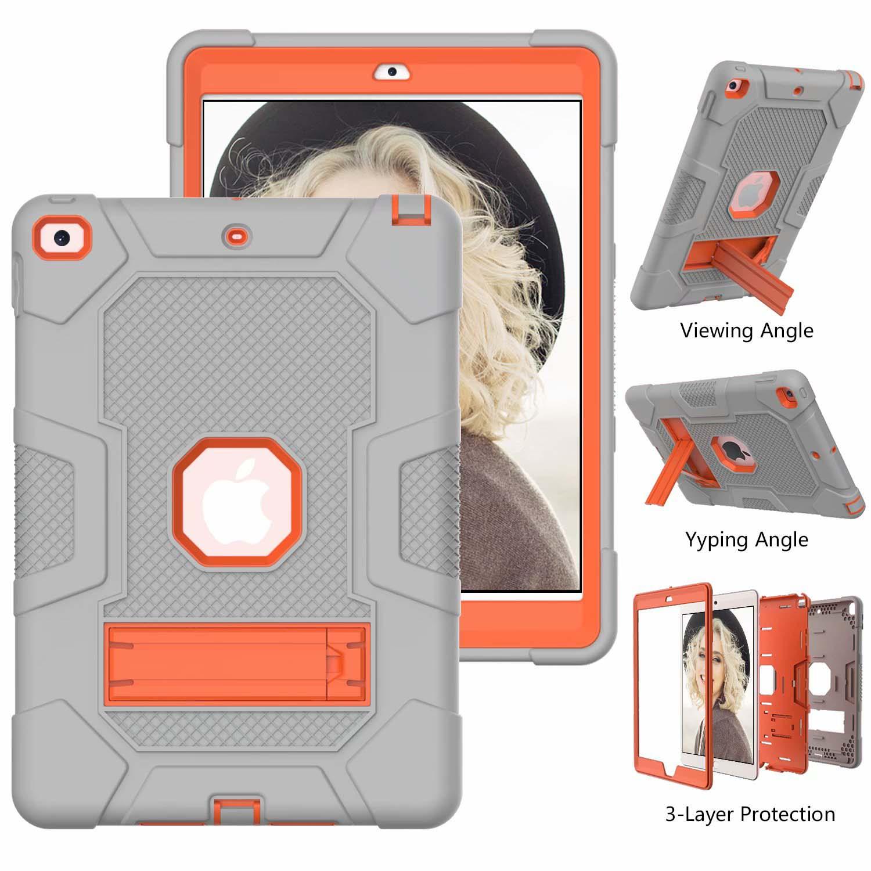 4 Black Shockproof Case for iPad 8th 7th Generation 10 2 Hybrid Armor Heavy Duty Hard PC Rugged