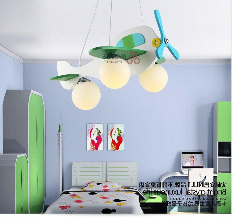 Modern Cartoon Luminaire Lamparas Aircraft Pendant Child Bedroom Lamp Lampen Industrieel
