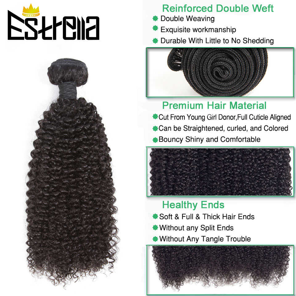 "Braziliaanse Kinky Krullend Menselijk Haar Bundels 1/3/4 Pcs Remy Human Hair Weave Kinky Krullend Bundels Natuurlijke Kleur 8 ""-28"" Hair Extensions"