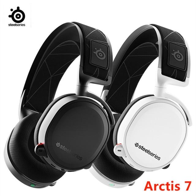 2019 Edition SteelSeries Arctis 7 Gaming Headset High  DTSXv2.0 7.1 Wireless game headset Headphone wear belt wheat