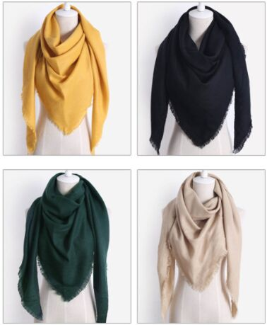 Wholesale Winter Triangle Scarf For Women Brand Palid Shawl Cashmere Scarves Warm Neck Blanket Lady Bandana Pashmina