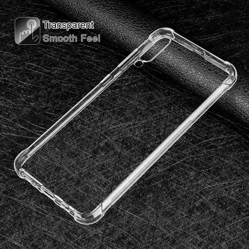 טלפון מקרה עבור סמסונג A50 A10 A40 A90 A80 סיליקון רך מקרה עבור סמסונג גלקסי S10 9 8 בתוספת הערה 10 9 8 שקוף חזרה כיסוי