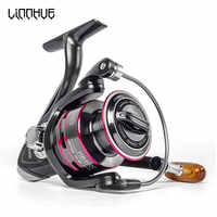 HOT Fishing Reel All Metal Spool Spinning Reel 8KG 12BB Max Drag Stainless Steel Handle Line Spool Saltwater Fishing Accessories