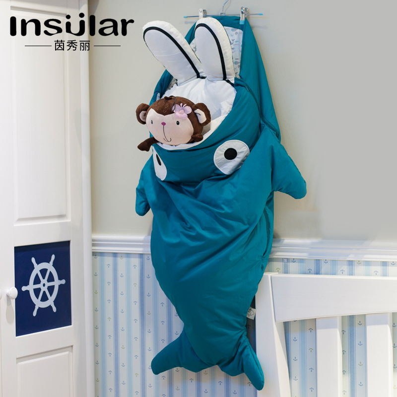 Insular INS Hot Selling Children Shark Sleeping Bag BABY'S BLANKET Autumn And Winter Warm Child Sleeping Bag Wholesale Infant Sl
