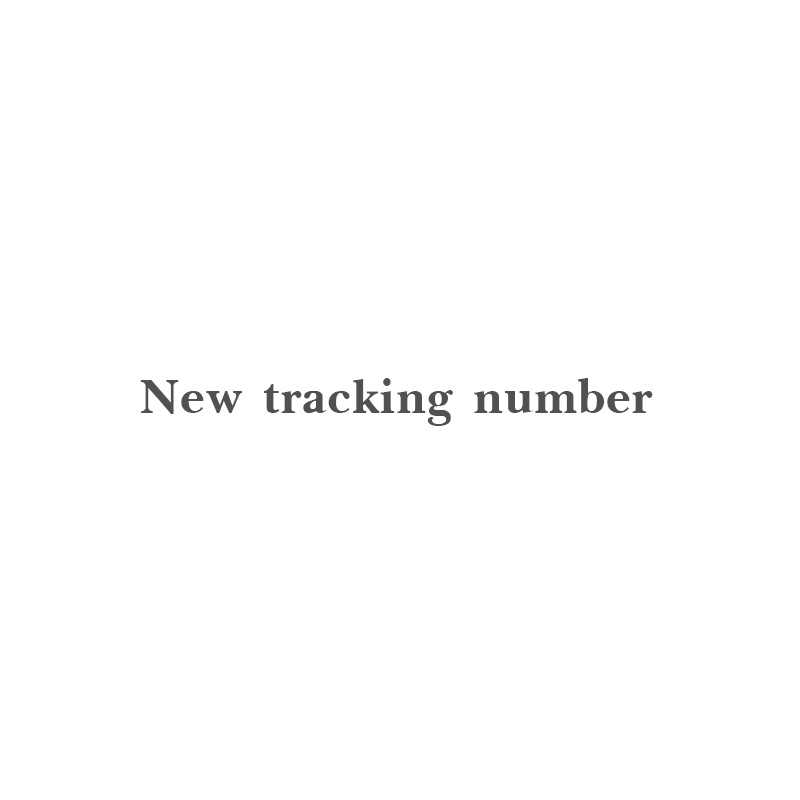 New tracking number