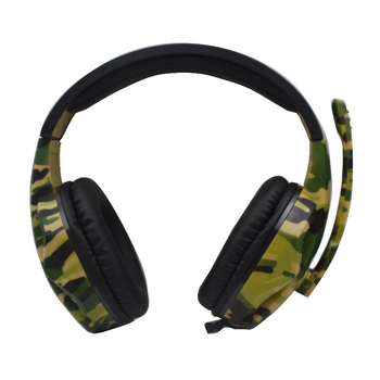 Game Headset Camouflage PC Computer Gamer Headset with Microphone for Laptop Cellphone FKU66