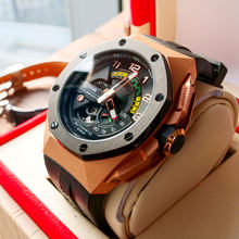 Reef Tiger/RT Luxury Stainless Steel Rose Gold Men Watch Waterproof Automatic Mechanical Watch Relogio Masculino RGA92S7