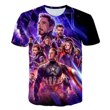 2019 NEW Avengers 4 final t shirt 3d printing superhero America hulk thor T Cosplay men new summer fashion