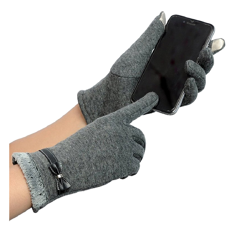 Touch Gloves Winter Warm Gloves Mittens For Touch Screen (Gray)