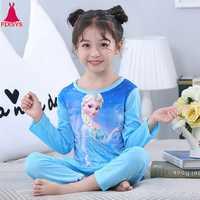 Heißer Kinder Mädchen Pyjamas Pyjamas Herbst Cartoon Prinzessin Elsa Nachtwäsche Pijamas Sophie Kinder Nachtwäsche Anzüge Kleidung 3-13T
