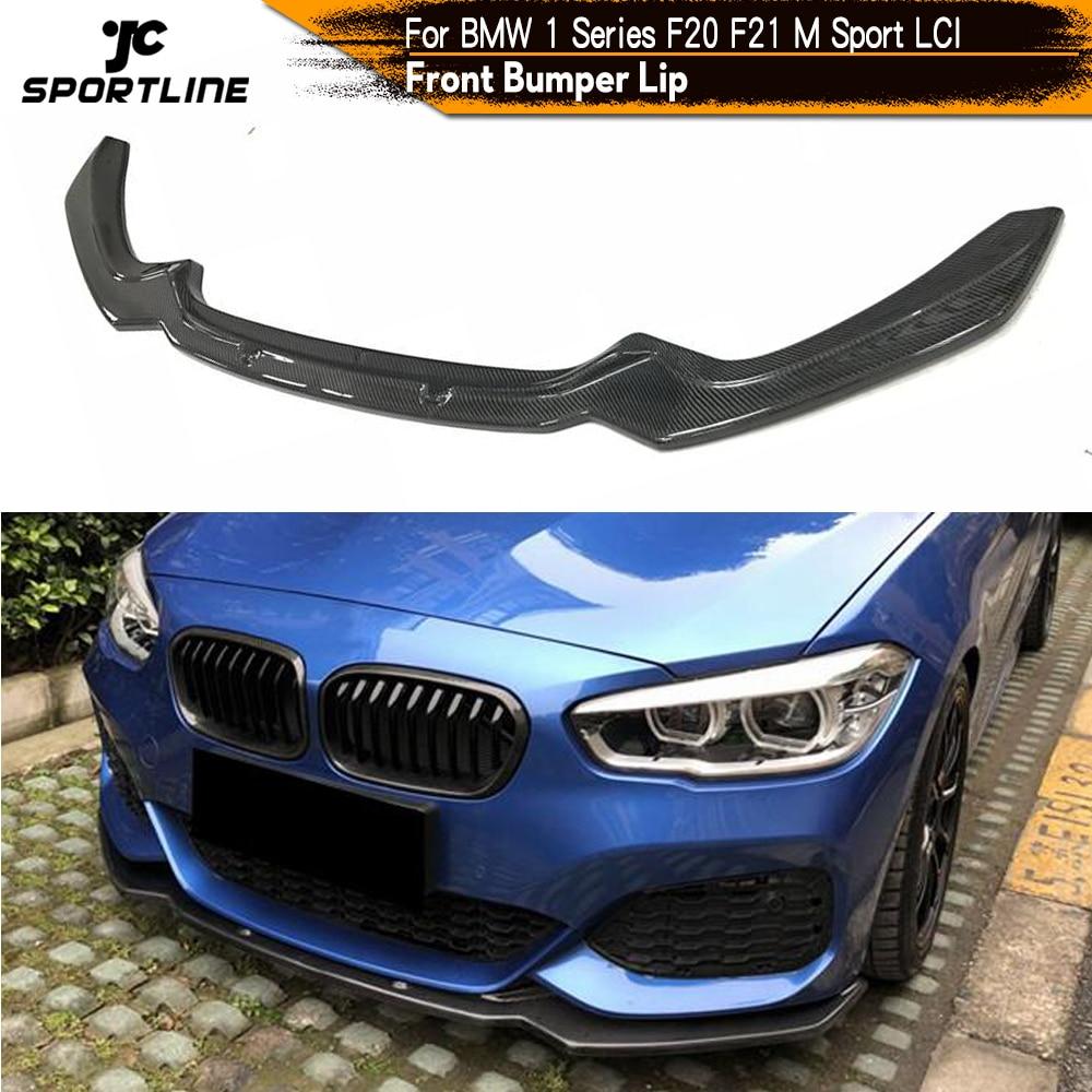 Lèvre de pare-choc avant de voiture, pour BMW F20, F21, LCI M Sport Hatchback 2 portes 4 portes, 2016-2018, M135i, séparateur de pare-chocs avant en Fiber de carbone
