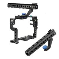 Camera Cage ProtectIVE Case Mount Stabilizer & Cold Shoe Top Handle Grip Cage kit with /1/4 3/8 for GH3/GH4 Camera Accessories