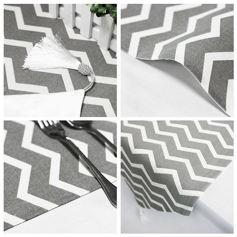 Cotton Modern Striped Table Runner Best Children's Lighting & Home Decor Online Store