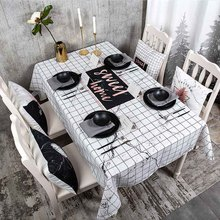 цена на Marble Tablecloth Waterproof Table Cloth Fabric Cotton Linen Table Cloth Rectangular Desk Tablecloth  ok