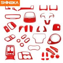 SHINEKA-pegatinas decorativas para Jeep Grand Cherokee, accesorios para decoración de interior Rojo de coche, accesorios para Jeep Grand Cherokee 2017 +