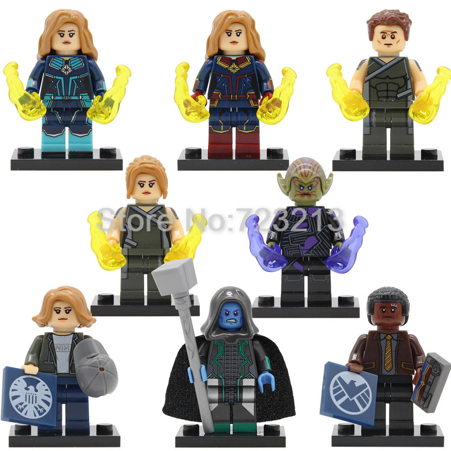 Super Hero Ronan The Accuser Captain Marvel Figure Carol Danvers Skrull Mar-Vell Nick Fury Building Block Bricks Toys Legoing
