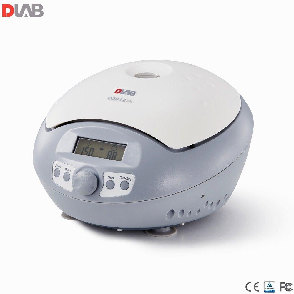 Mini centrifugeuse à grande vitesse 15000 tr/min Dlab D2012 Plus centrifugeuse de laboratoire (marquage CE) 0.2 mL/0.5 mL/1.5 mL/2 mL, moteur à courant continu sans balai